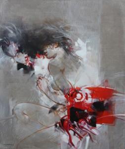"""Vanni Saltarelli """"Indiscretioni"""" 120 x 100 cm"""