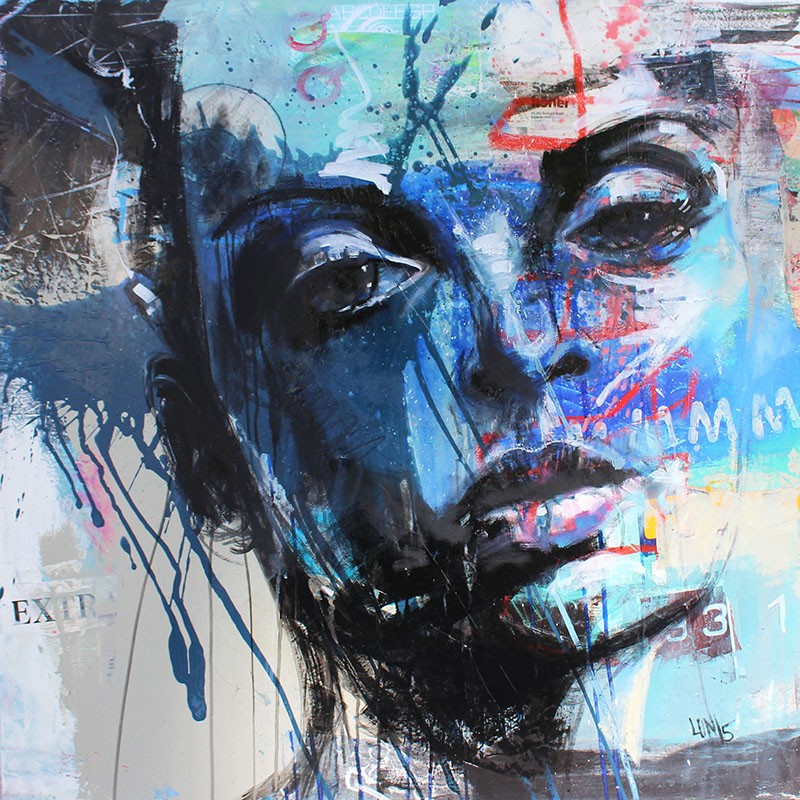 Portrait in Blau