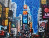 Time Square Blue Sky NY by Iliya Zhelev