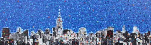 Blue Sky over Manhattan by Iliya Zhelev