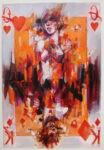 Carta da gioco rosso by Vanni Saltarelli