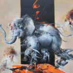 Elefante gioioso, by Saltarelli