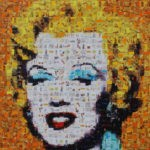 Marilyn nach Andy Warhol in Iliya Zhelevs Manier
