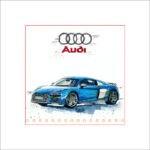 Audi R8, 30 x 30 cm, limitiert