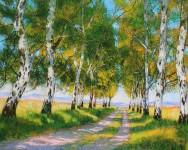 Herbst Birkenallee