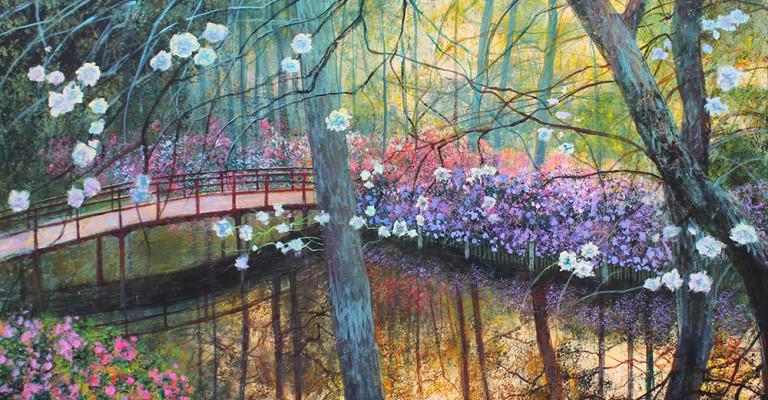 Herbst Japanischer Garten