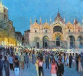 San Marco bei Nacht 110 x 120 cm vom Uwe Herbst