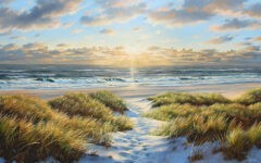 Magical light at the beach by Karsten Meiwald