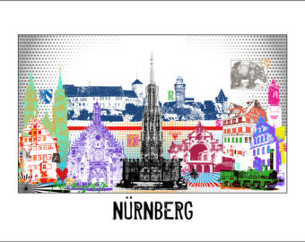 Nürnberg Motiv Pop Art
