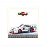 Martini Porsche, 30 x 30 cm, limitiert