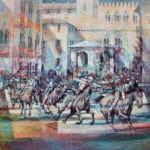 Darstellung des Palio in Siena von Angelo Bellini