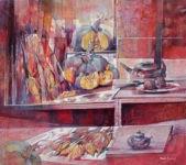 Stilleben mit Kürbissen von Angelo Bellini