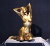 Demlehner - Sitzender Akt - Bronze