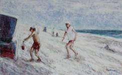 Kremers Kinder am Strand