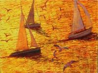 Herbst Boote im Licht