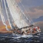 Seul en mer agitee by Mitro