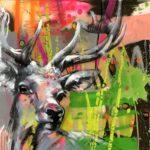 Deer Pop von Ilona Griss-Schwärzler