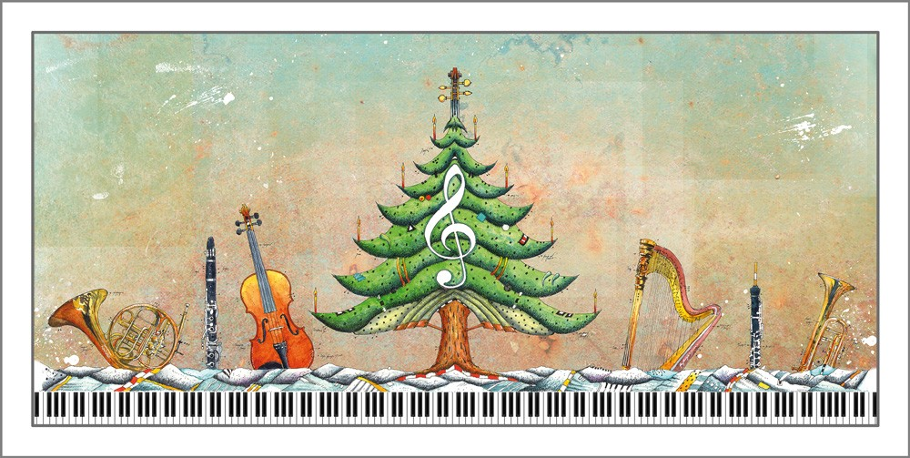 Die weihnachtskarten sind da galerie meisterst ck kunstgalerie im herze von n rnbergs - Weihnachtskarten mit musik ...