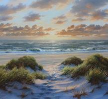 Karsten Meiwald Strand mit Sonnenuntergang