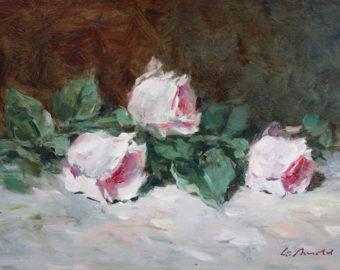 Ölgemälde Liegende Rosen von Gerhard Arnold