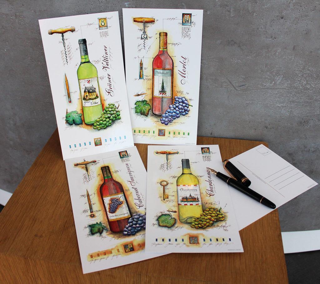 Weinpostkarten Leslie
