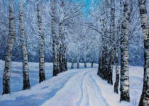Uwe Herbst Birkenwald im Winter