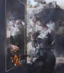 Saltarelli Frau im Spiegel