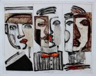 Faces, Papierarbeit, 70 x 85 cm