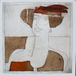 Gentleness, Papierarbeit, 70 x 70