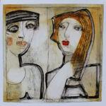 Partner, Papierarbeit, 50 x 50 cm