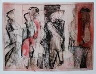 Walk in the City, Papierarbeit, 70 x 85cm