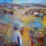 Südliche Landschaft 100 x 100 cm by Mario Malfer