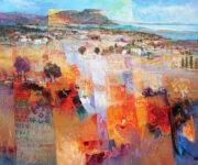 Südliche Landschaft 100 x 120 by Mario Malfer