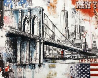 Uli Knauer - New York Brooklin Bridge - 80 x 120 cm